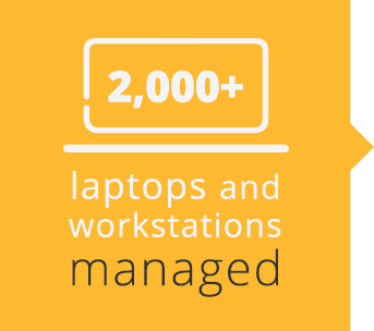 2,000+ laptops & workstations managed
